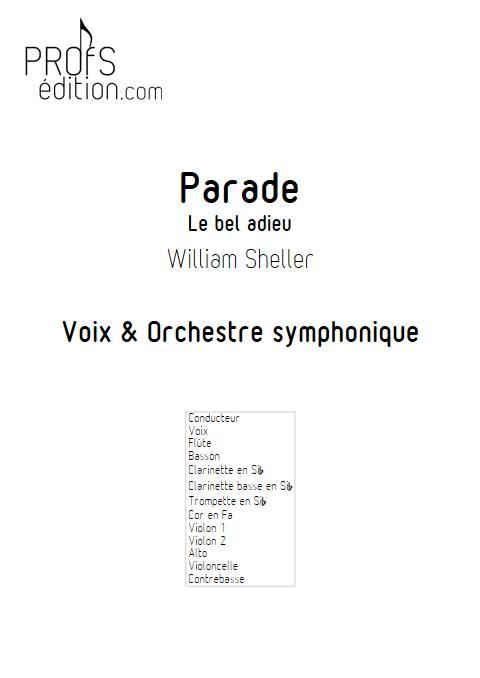 Parade - Orchestre Symphonique - SHELLER W. - front page