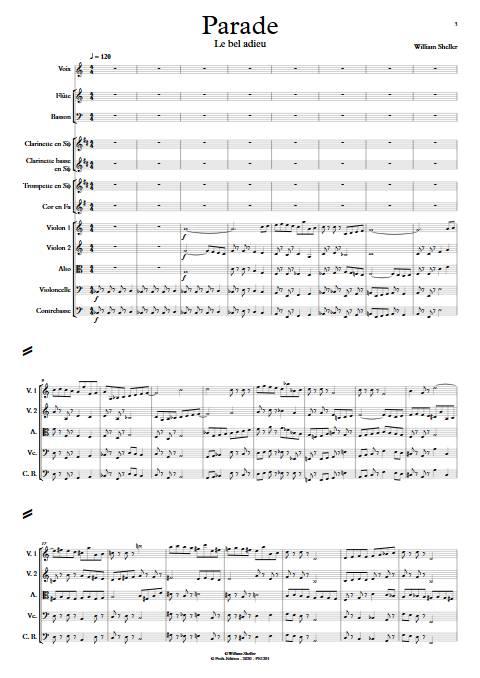Parade - Orchestre Symphonique - SHELLER W. - app.scorescoreTitle