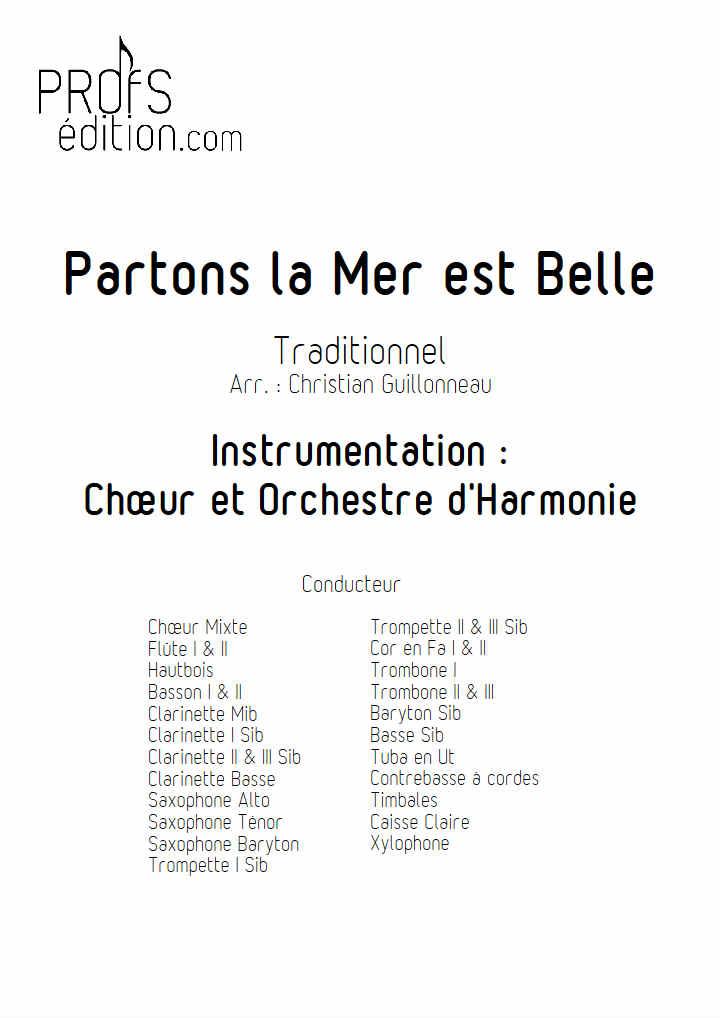 Partons la mer est belle - Chœur & Harmonie - TRADITIONNEL - front page