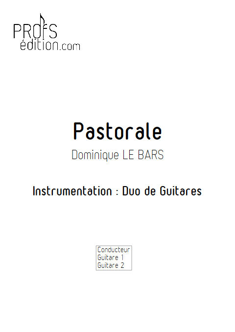 Pastorale - Duos Guitare - LE BARS D. - front page