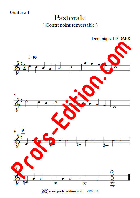 Pastorale - Duos Guitare - LE BARS D. - app.scorescoreTitle