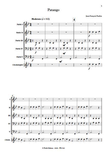 Patango - Ensemble Variable - PAULEAT J. F. - app.scorescoreTitle