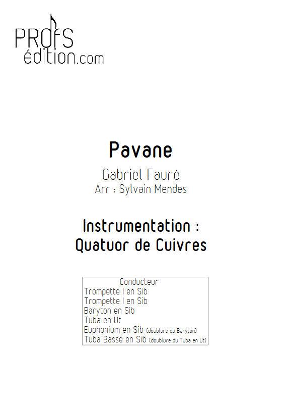 Pavane - Quatuor Cuivres - FAURÉ G. - front page