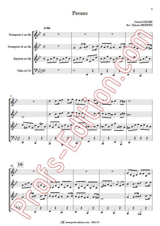 Pavane - Quatuor Cuivres - FAURÉ G. - app.scorescoreTitle