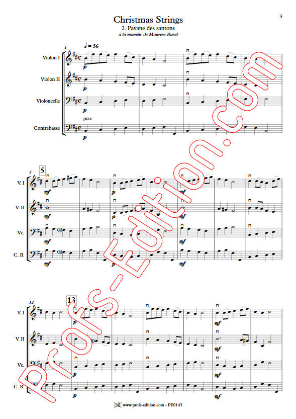 Pavane des Santons - Orchestre Cordes - GUILLONNEAU C. - app.scorescoreTitle