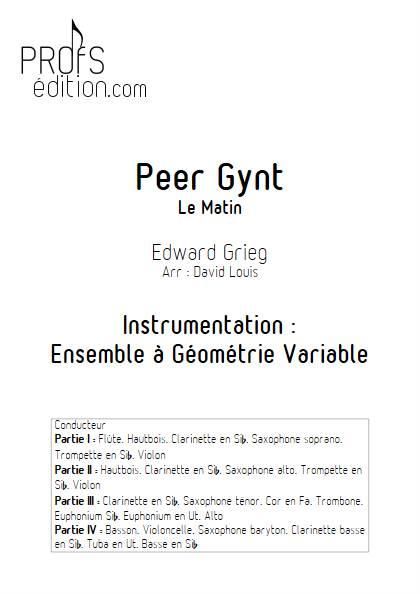Le matin - Ensemble Variable - GRIEG E. - front page