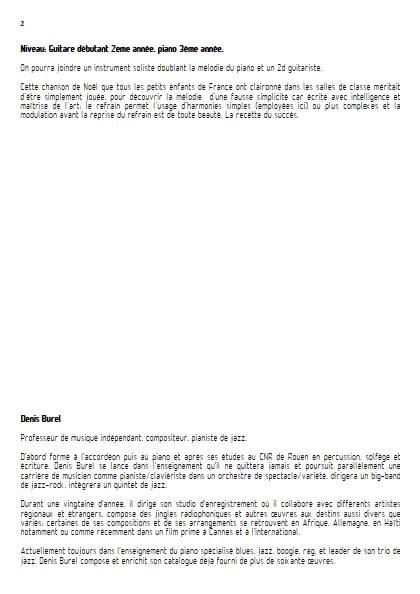 Petit Papa Noël - Guitare & Piano - MARTINET Henri BUREL Denis - Educationnal sheet