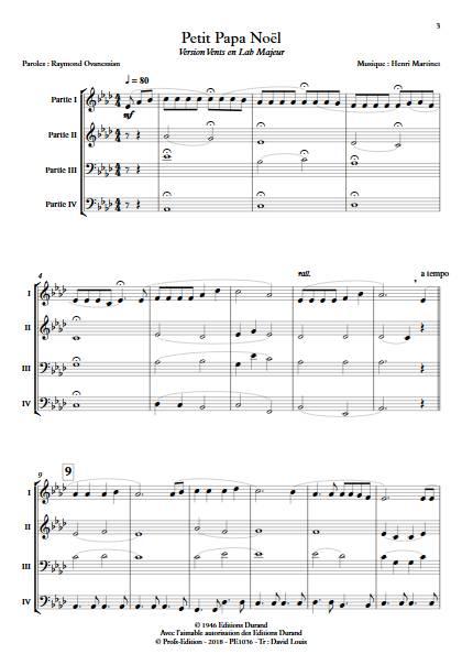 Petit Papa Noël - Ensemble Variable - MARTINET H. - app.scorescoreTitle