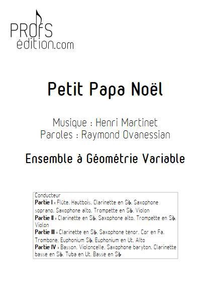 Petit Papa Noël - Ensemble Variable - MARTINET H. - front page