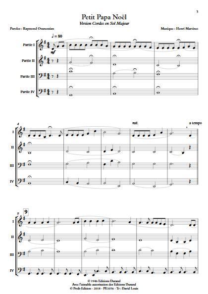 Petit Papa Noël - Ensemble Variable - MARTINET H. - Educationnal sheet