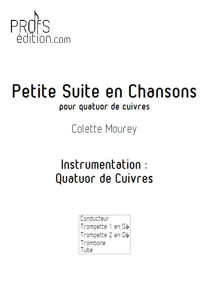 Petite Suite En Chansons - Quatuor de Cuivres - MOUREY C. - front page