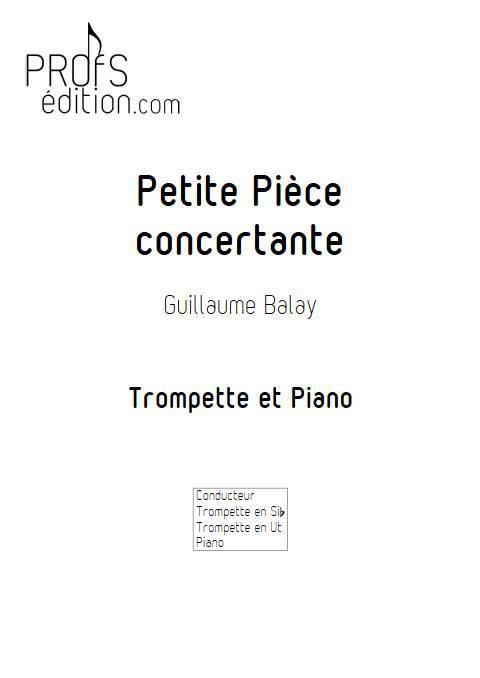 Petite pièce concertante - Trompette et Piano - BALAY G. - front page