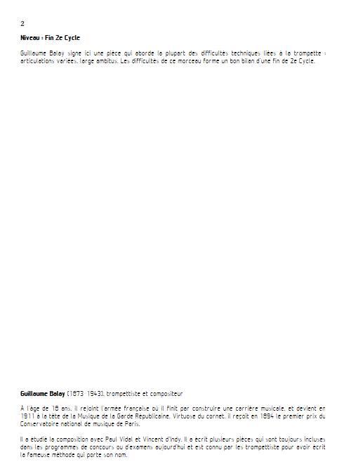 Petite pièce concertante - Trompette et Piano - BALAY G. - Educationnal sheet