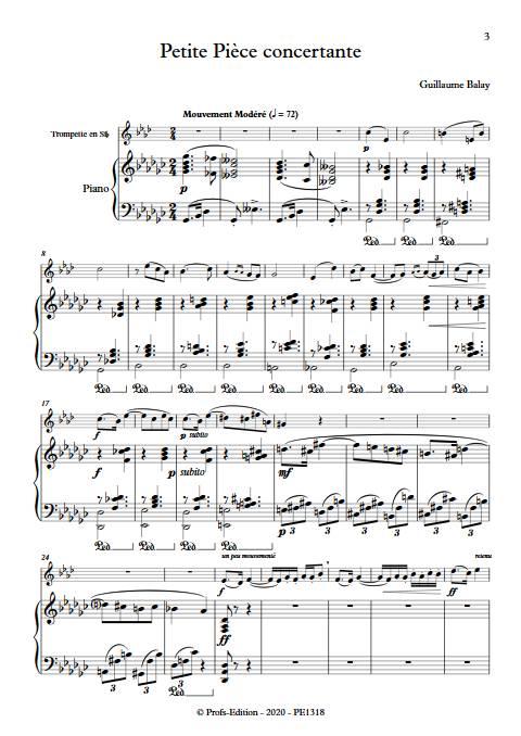 Petite pièce concertante - Trompette et Piano - BALAY G. - app.scorescoreTitle