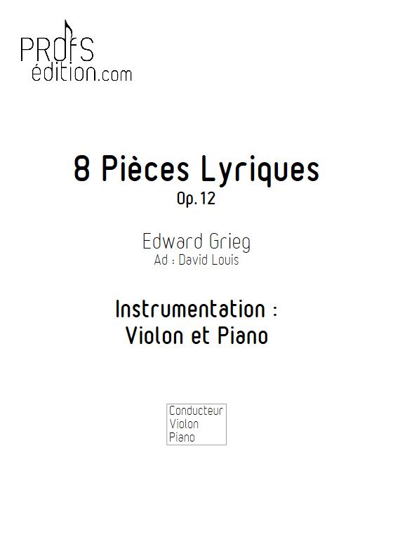 Pièces Lyriques Op.26 - Duo Violon et Piano - GRIEG E. - front page