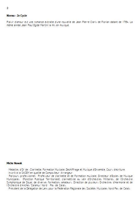 Plaisir d'Amour - Quatuor de Saxophones - MARTINI J-P-E - Educationnal sheet