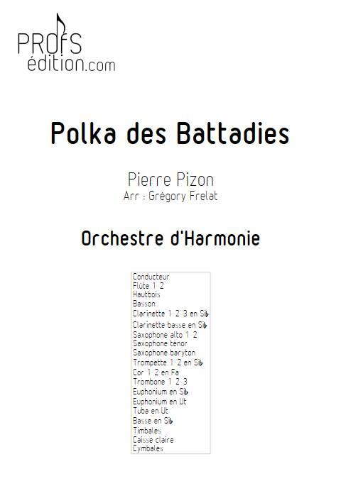 Polka des battadies - Orchestre d'Harmonie - PIZON P. - front page