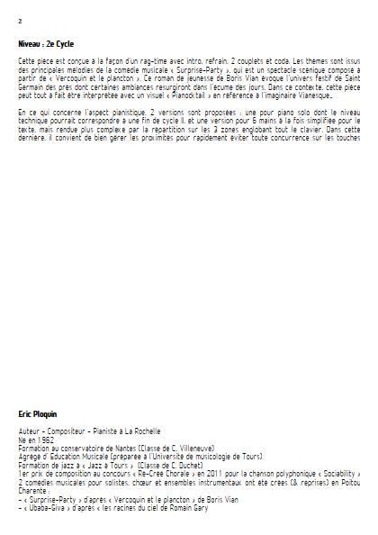 Polo's Rag - Piano 6 mains - PLOQUIN E. - Educationnal sheet
