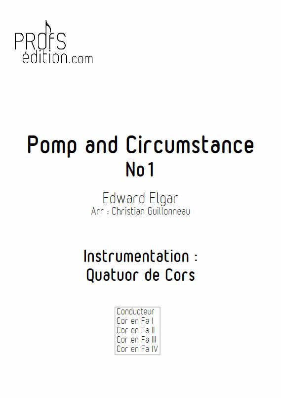 Pomp and Circumstance - Quatuor de Cors - ELGAR E. - front page