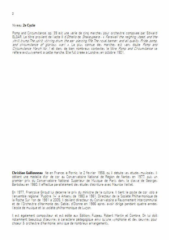 Pomp and Circumstance - Quatuor de Cors - ELGAR E. - Educationnal sheet