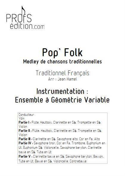 Pop and Folk - Ensemble Variable - TRADITIONNEL FRANCAIS - front page