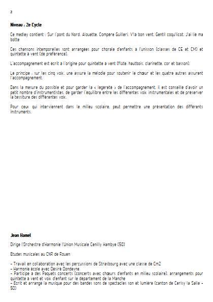 Pop and Folk - Ensemble Variable - TRADITIONNEL FRANCAIS - Educationnal sheet