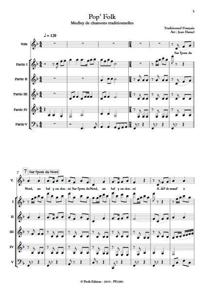 Pop and Folk - Ensemble Variable - TRADITIONNEL FRANCAIS - app.scorescoreTitle