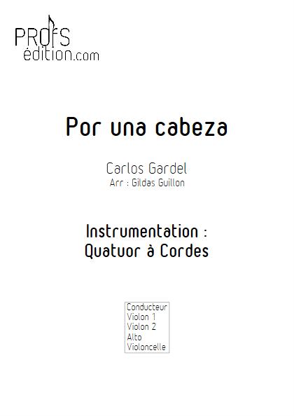 Por Una Cabeza - Quatuor à Cordes - GARDEL C. - front page