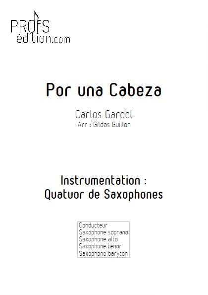 Por Una Cabeza - Quatuor de Saxophones - GARDEL C. - front page