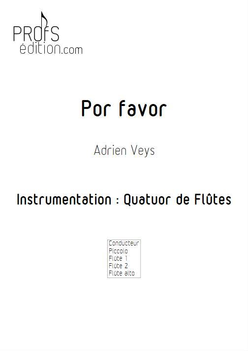 Por Favor - Quatuor de Flûtes - VEYS A. - front page