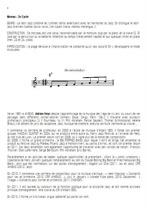Por Favor - Quatuor de Flûtes - VEYS A. - Educationnal sheet