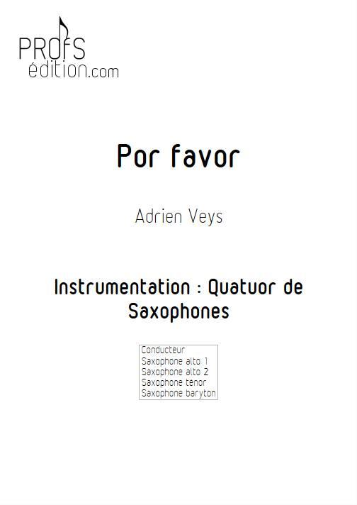Por Favor - Quatuor de Saxophones - VEYS A. - front page