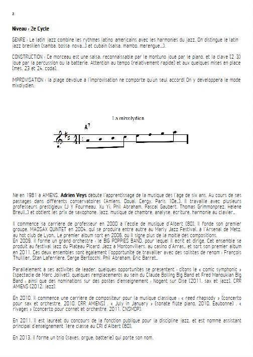 Por Favor - Quatuor de Saxophones - VEYS A. - Educationnal sheet