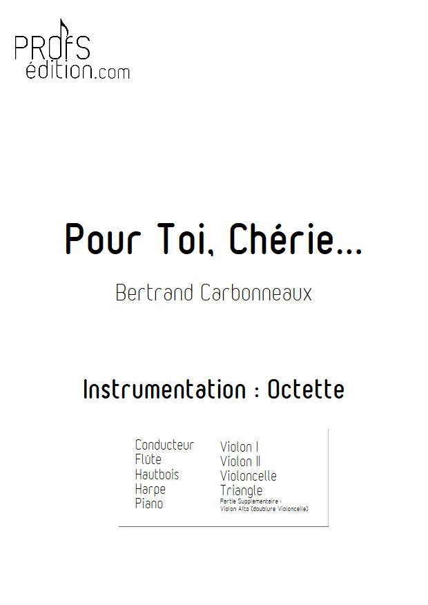 Pour Toi, Chérie... - Octette - CARBONNEAUX B. - front page