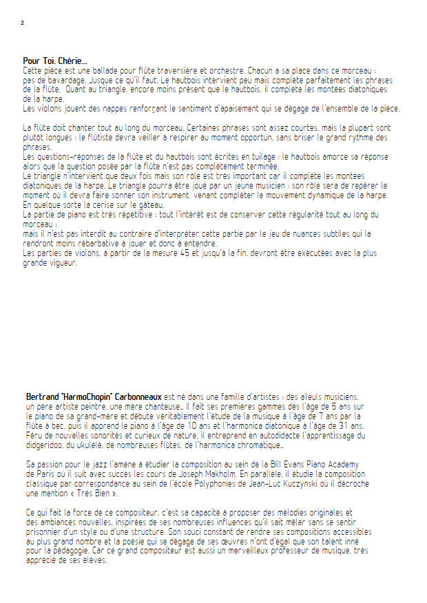 Pour Toi, Chérie... - Octette - CARBONNEAUX B. - Educationnal sheet
