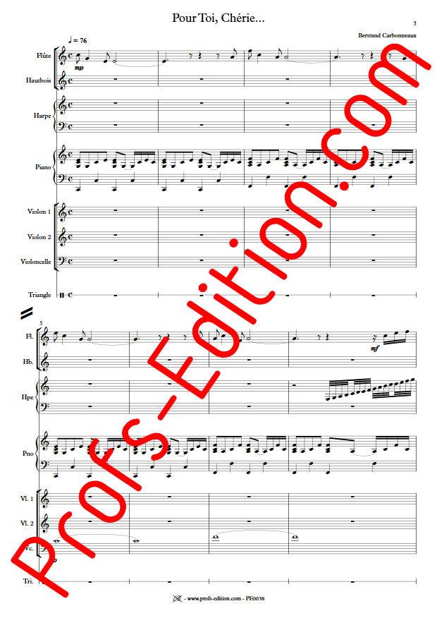 Pour Toi, Chérie... - Octette - CARBONNEAUX B. - app.scorescoreTitle