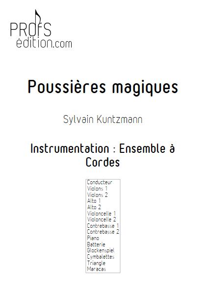 Poussières Magiques - Ensemble à Cordes - KUNTZMANN S. - front page