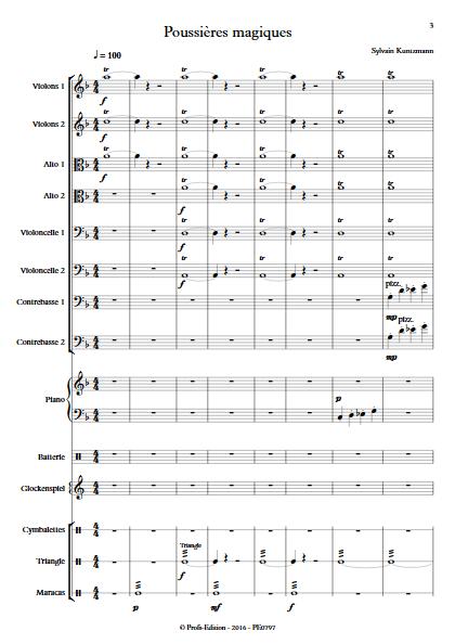 Poussières Magiques - Ensemble à Cordes - KUNTZMANN S. - app.scorescoreTitle