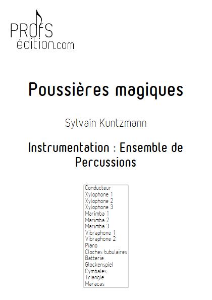 Poussières Magiques - Ensemble de Percussions - KUNTZMANN S. - front page