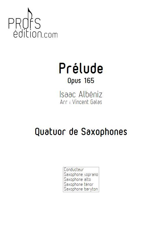 Prélude - Quatuor de Saxophones - ALBENIZ I. - front page