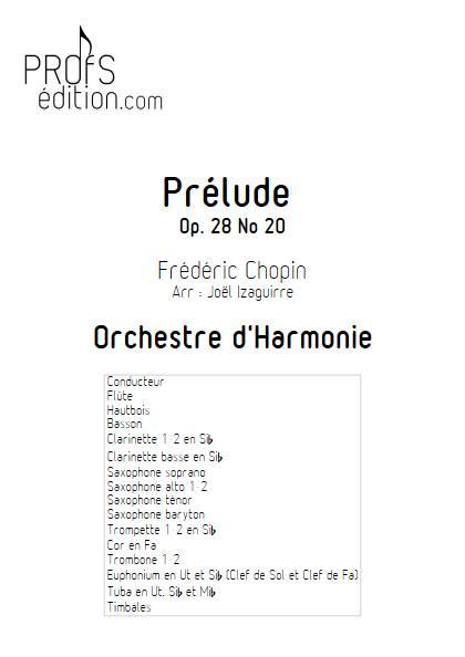 Prélude Op. 28 No 20 - Orchestre d'Harmonie - CHOPIN F. - front page