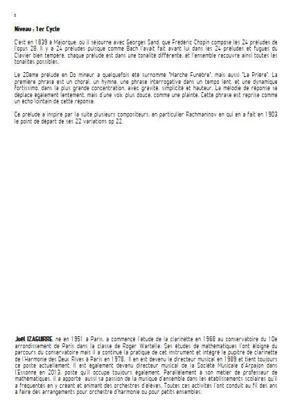 Prélude Op. 28 No 20 - Orchestre d'Harmonie - CHOPIN F. - Educationnal sheet