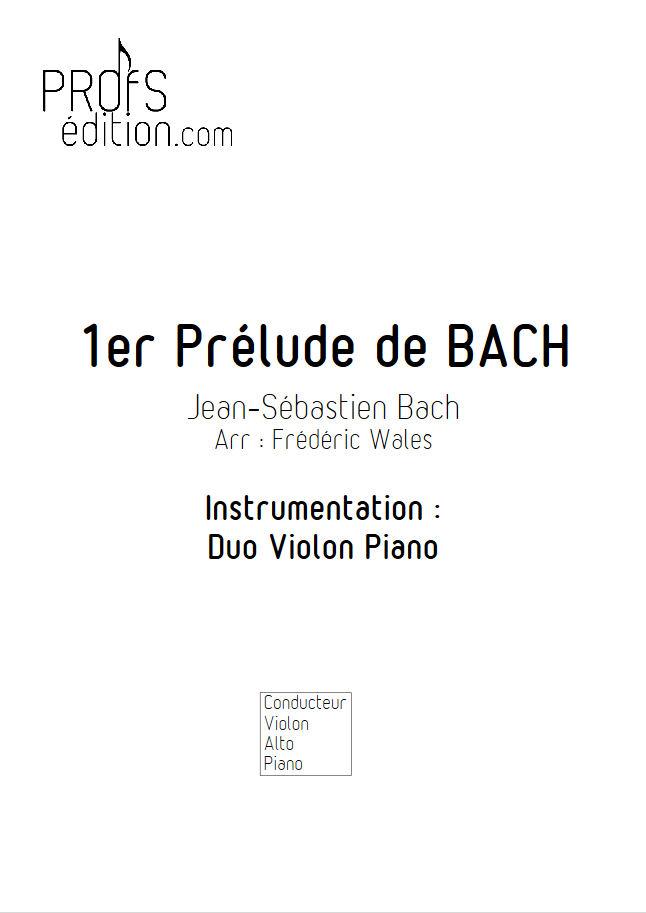 1er Prélude - Violon ou Alto & Piano - BACH J. S. - front page