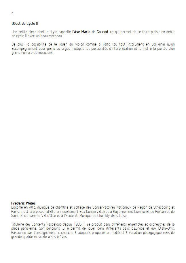 1er Prélude - Violon ou Alto & Piano - BACH J. S. - Educationnal sheet