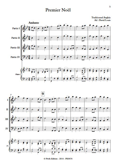Premier Noël - Ensemble à Géométrie Variable - TRADITIONNEL ANGLAIS - app.scorescoreTitle