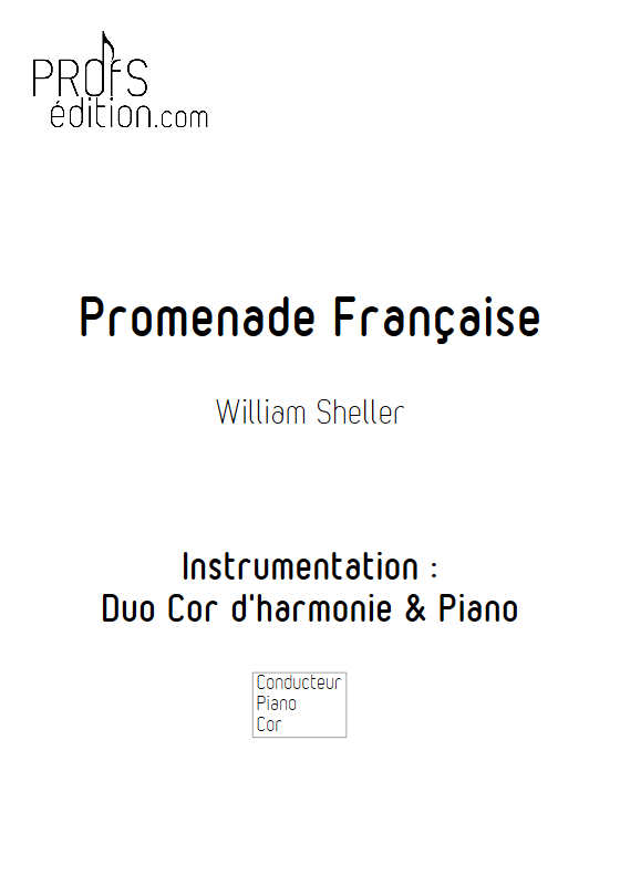 Promenade Française - Cor & Piano - SHELLER W. - front page