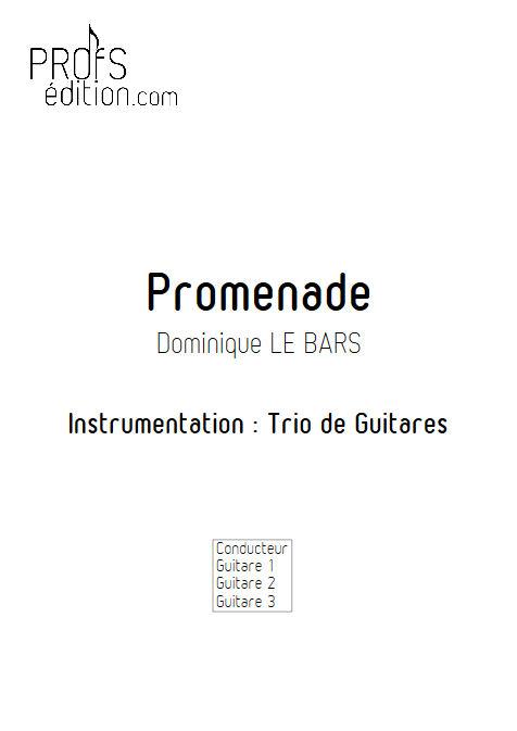 Promenade - Trios Guitare - LE BARS D. - front page
