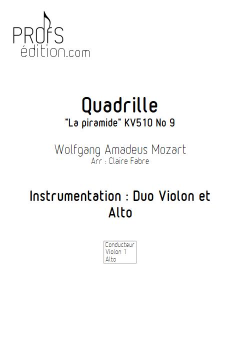 Quadrille - Duo Violon et Alto - MOZART W. - front page