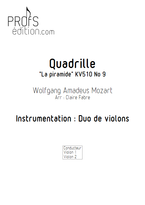 Quadrille - Duo Violons - TCHAIKOVSKI P. I. - front page