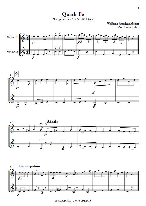 Quadrille - Duo Violons - TCHAIKOVSKI P. I. - app.scorescoreTitle